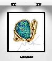 MK0010: Bague or et opale