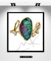 MK0012: Bague or et opale