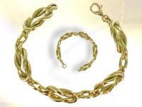 Ref-1081  Bracelet Maçonnique Lacs d\'Amour or