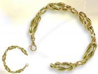 Ref-1080  Bracelet Maçonnique Lacs d\'Amour vermeil