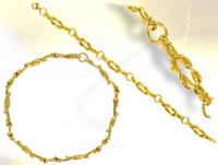 Ref-866  Bracelet Maçonnique Chain d\'u.^. or
