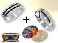 Ref-3013 Silver Atlantis ring + cleanser
