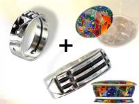 REF-3015 Silver Atlantis ring + cleanser