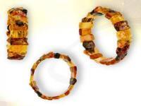 Ref-3737 Bracelet tout ambre multi-color