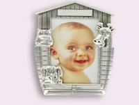 Ref-2615 Cadre porte photo bébé Arche de Noé