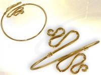 Ref-2319  Bracelet de bras Egyptien