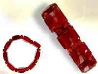 Ref-2122  Bracelet  CORNALINE ROUGE