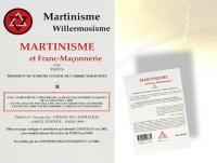 Ref-1222  MARTINISME et Franc-Maçonnerie par PAPUS