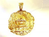 Ref-1105  Médaille maçonnique - Tapis de loge plaqué or