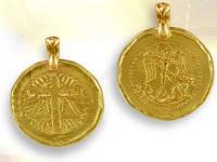 Ref-1968  Medaille archange Michael vermeil