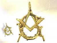 Ref-1216  PAST MASTER vermeil masonic pendant