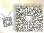 Ref-2332  Pendentif  style filigrane argent