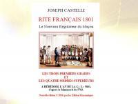 Ref- 2798  Livre maçonnique RITE FRANÇAIS 1801