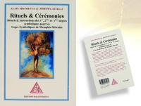 Ref-1139  Livre maçonnique Rituels Cérémonies