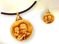 Ref-2072  Médaille Saint-Christophe vermeil