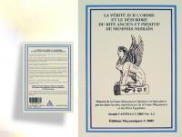 Ref-1141  Livre maçonnique LA VÉRITÉ SUR L'ORDRE .....